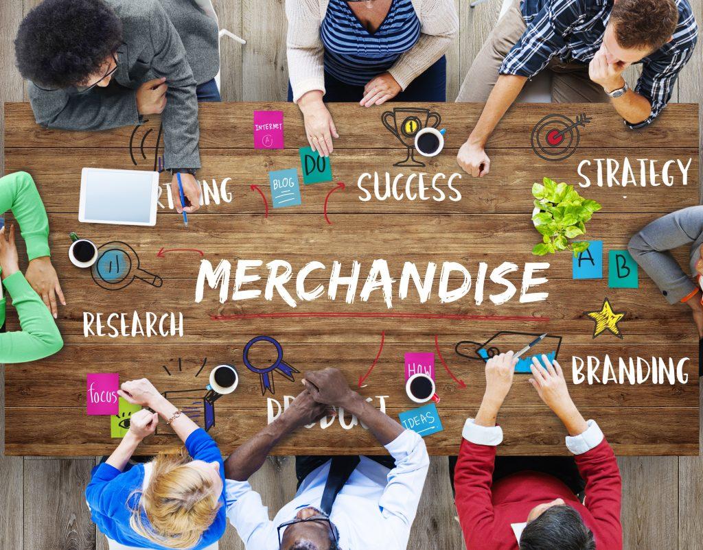 Merchandising, graphic showing corporate meeting