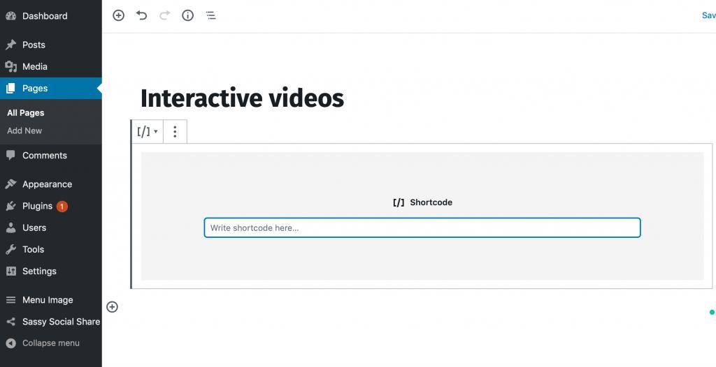 Adding Interactive video on WordPress