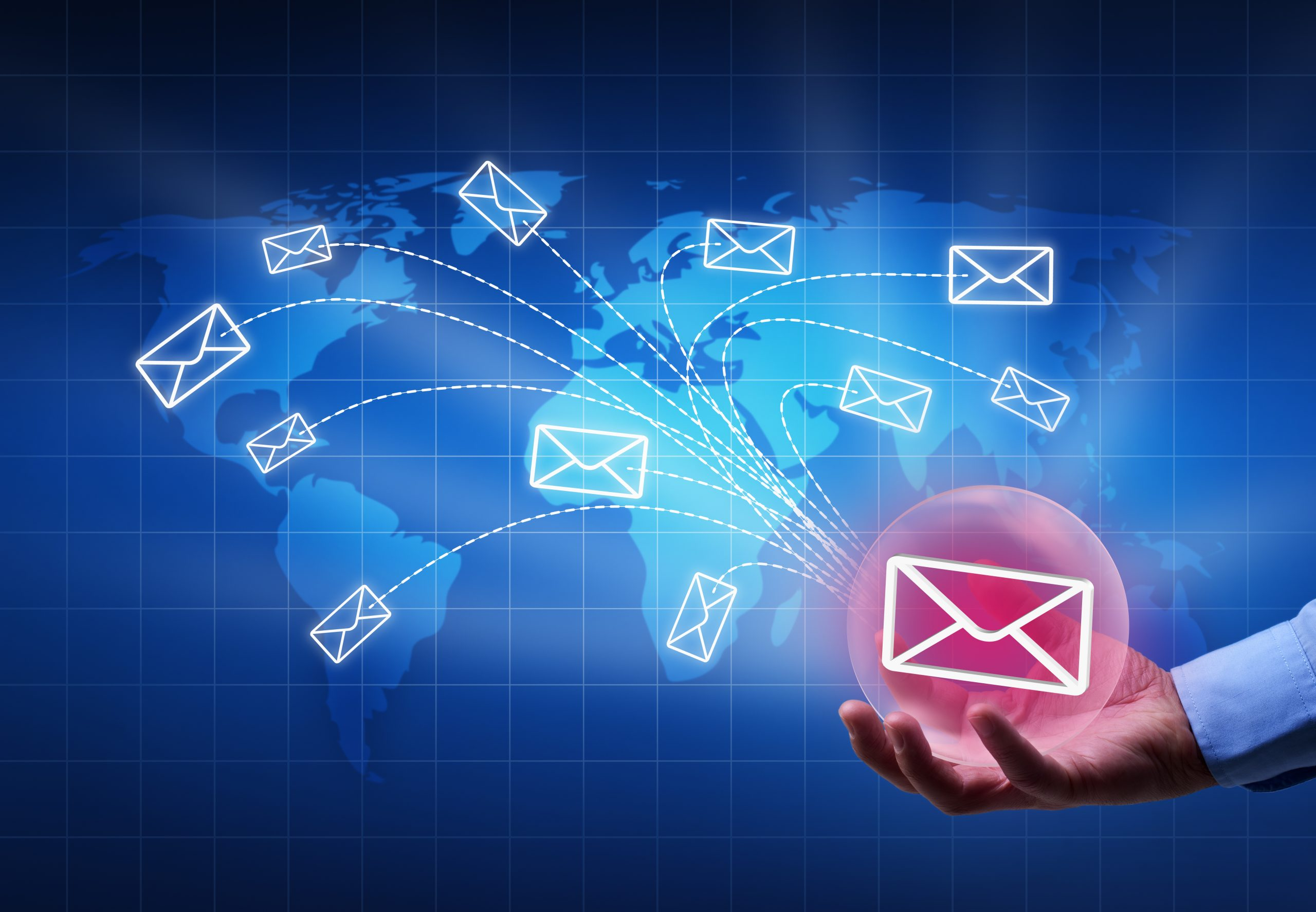 Emails being sent globally